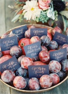 calligraphy escort cards - http://www.weddingchicks.com/2014/02/14/bold-meets-soft-fall-wedding-inspiration/