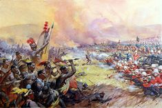 The Battle of Ulundi (Original) by James E McConnell at The Illustration Art Gallery
