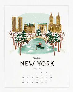 Rifle Paper Co. 2014 Travel America Calendar