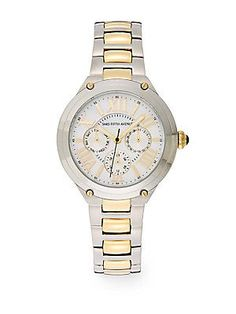 Saks Fifth Avenue Stainless Steel & Goldtone IP Chronograph Dial Watch