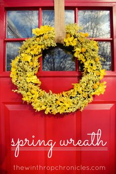 spring wreath idea -- dried flowers from the market