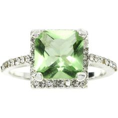 city x city Crystal Square Ring ($18) ❤ liked on Polyvore featuring jewelry, rings, no color, square ring, green jewelry, clear crystal ring, petite jewelry and crystal jewellery