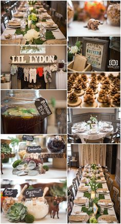 Baby shower decor ideas Woodland woodsy boho theme