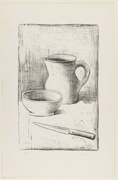 Still Life. composition: 14 x 9 x cm); sheet: 19 x 12 x cm). © 2016 Carlo Carrà / Artists Rights Society (ARS), New York / SIAE, Rome. Drawings and Prints Futurism Art, Led Pencils, Charcoal Sketch, Still Life Drawing, Alberto Giacometti, Italian Painters, Art Database, Art Techniques, Luigi