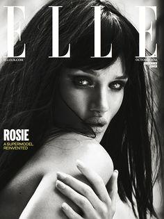 Rosie Huntington-Whitely Elle Magazine