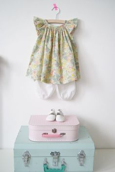 Little liberty(Pattern Marie from Citronille with added smocking)