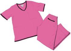 Petite Natural Uniforms Women's Scrub Set Medical Scrub Top and Pants M Hot Pink Set / Black Trim Discount Scrubs, Cheap Scrubs, Lab Coats, Womens Scrubs, Medical Scrubs, Scrub Sets, Elastic Waist Pants, Drawstring Pants, Black Trim