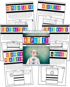 Higher order thinking math tasks in 1st grade! 16 tasks for each domain!