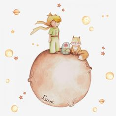 The little prince wall decal. wall sticker little prince. wall stickers nursery little prince. Prince Nursery, Baby Mobile, Nursery Wall Stickers, Paint Effects, The Little Prince, Watercolor Illustration, Clipart, Creations, Hand Painted
