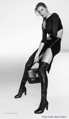 """Gisele """"approved"""" Thigh-High's."""