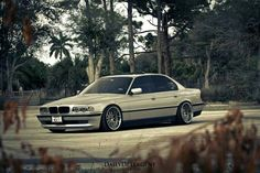 BMW E38 7 series silver deep dish
