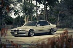 BMW E38 7 series silver deep dish