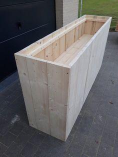 Tall Planter Boxes, Garden Planter Boxes, Tall Planters, Wooden Planters, Pond Design, Patio Design, Diy Outdoor Furniture, Garden Furniture, Backyard Planters