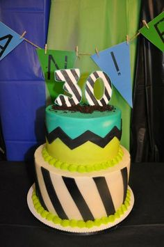 Cool cake from a Dirty Thirty Birthday Party!  See more party ideas at CatchMyParty.com!