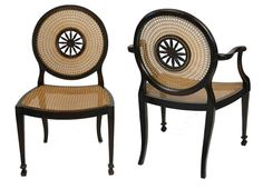 Pair of Antique English Neo Classic Revival Chairs