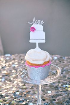Glitter and Paper crafted Mini Cake Cupcake by HOCDesignsMarket, $25.00
