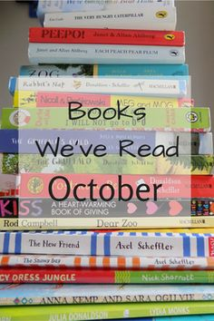 Books We've Read October - sharing some of the books we have read in October - toddler and children's books as well as scifi books