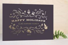 Glimmer Foil-Pressed Holiday Cards by Griffinbell Paper Co. at minted.com