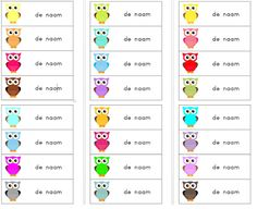 Juf Jamilla: Naamkaartjes met uilen. Thema uilen. Voor kleuters Preschool Names, Owl Classroom, Teacher Boards, Name Labels, Beginning Of School, Love My Job, Hobbies And Crafts, Teaching Kids, How To Plan
