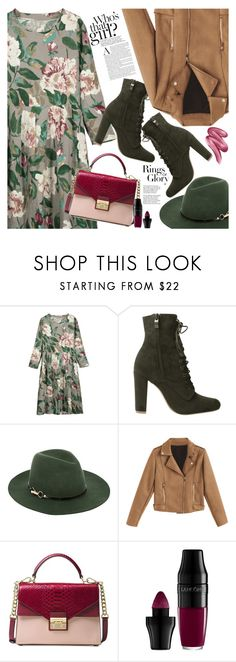 """Floral dress"" by vanjazivadinovic ❤ liked on Polyvore featuring Monsoon, Michael Kors, Tiffany & Co., Lancôme and Clinique"