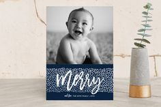 Peace Dots Holiday Photo Cards by Paper Dahlia at minted.com
