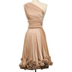 Champagne dress-not that I could get it to fit me like this one looks. Oh well, I can dream.