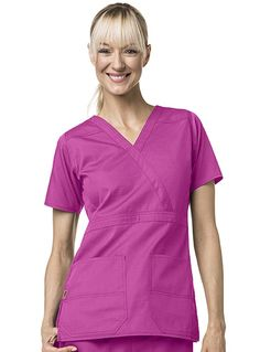Style Code: (CA-C17108) A scrub top that suits your heavy workload? This Carhartt of women is completely made from cotton and polyester blend in ripstop fabric. It features front mock belt at waist, front princess seams, dropped yoke at shoulders, back yoke and an inner contrast that gives style but do not violate any of dress codes.