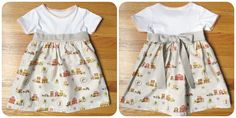 homemade by jill: cowgirl t-shirt dress, also can use silhouette to match fabric!  I must do this!!!