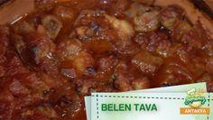 Belen Tava - Meltem'in Mutfağı: Antakya Malzemeler: 500 gram koyun veya kuzu eti kuşbaşından biraz daha küçük 3 adet domates 2 tane soğan 5 diş sarımsak Bir adet kırmızı biber (Kırmızı biber lezzet açısından önemli yer tutar) Kekik – tuz – karabiber Sıvı yağ veya kuyruk yağı (Kuyruk yağıyla daha lezzetli olur) 1 kaşık domates salçası