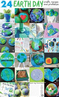 Cool Earth Day activities for kids and adults alike! These easy crafts and DIY projects make great teaching ideas for celebrating Earth Day. There are crafts for adults, crafts for kids, and even the best recipes to honor our planet for Earth Day! Earth Day Projects, Earth Day Crafts, Projects For Kids, Art Projects, Crafts For Kids, Easy Crafts, Earth Day Activities, Preschool Activities, April Preschool