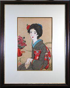 竹久夢二 椿の髪飾り
