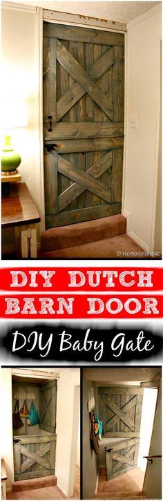 DIY Dutch Barn Door – DIY Baby Gate - 30 Best DIY Baby Gate Tutorials on Cheap Budget | DIY & Crafts