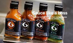 6-pack fitness hot sauce for foodies and fitness fanatics.