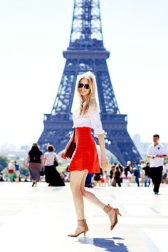 paris with a pop of red