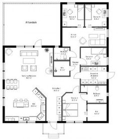 Add garage to the left + walk in pantry Modern House Plans, Modern House Design, House Floor Plans, Dream Home Design, My Dream Home, Building Plans, Building A House, Little House Plans, L Shaped House