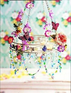 Pretty floral and beaded chandalier