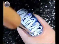Dry Marble Holo Nail Art - YouTube