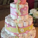How to make a diaper cake (Free tutorials & directions)