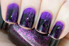 purple glitter #nail #polish