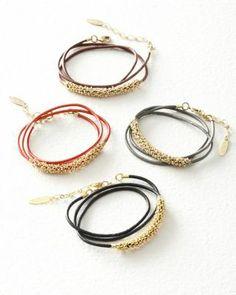 ADA Double Lila Leather Bracelet