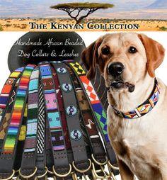 African Beaded Dog Collars