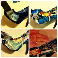 DIY comic shoes, chaussures BD