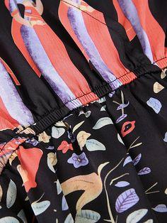 Gracila Vintage Women Printed V-Neck High Waist Long Maxi Dresses