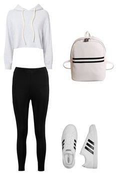 """Untitled #3"" by acbozeman ❤ liked on Polyvore featuring Monrow, Boohoo and adidas"