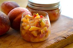 Peach Salsa. One of my first canning attempts and FABULOUS!