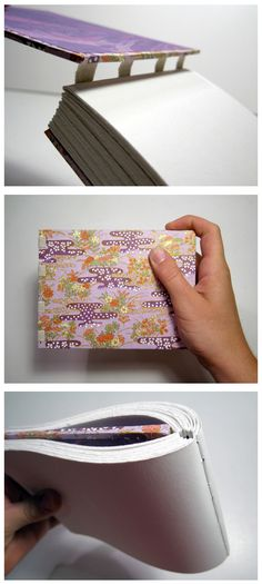 Bookarts: Exposed Tape Binding (Tutorial!) http://www.mollybrooks.com/wordpress/?p=302