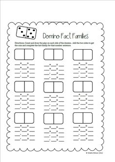 First Grade Wolves: Search results for domino fact families Math Classroom, Kindergarten Math, Teaching Math, Addition Worksheets First Grade, Math Addition, Fact Family Worksheet, Math Enrichment, Second Grade Math, Grade 1