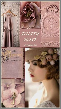 I have lived in every era. Each time a new life. A new cover. The only connection, the color of a dusty rose. Color Trends, Color Combinations, Cactus Rose, Paint Color Schemes, Color Collage, Beautiful Collage, Colour Board, Soft Summer, Color Rosa