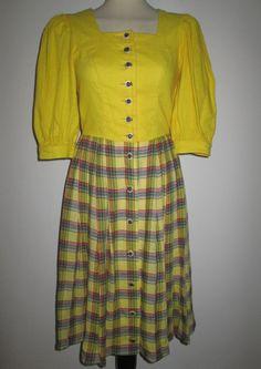 * * * SALZBURGER DIRNDL gelb, ca.Gr.36 * * * | eBay Waist Skirt, High Waisted Skirt, Tops, Skirts, Ebay, Fashion, High Waist Skirt, Shopping, Yellow