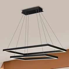 VONN Lighting VMC31710BL Atria Duo 29-inch Integrated LED Chandelier in Black